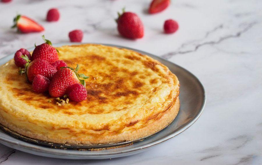 Tarta de queso camembert horizontal