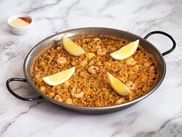 arroz del senyoret terminado con ali oli