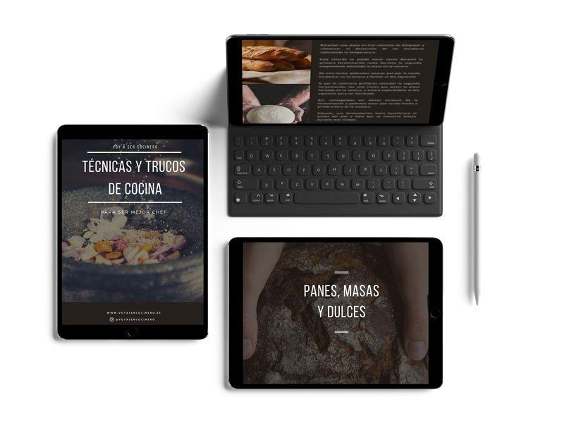 Ebook de tecnicas de cocina visto desde diferentes dispositivos