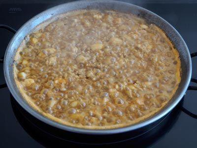 arroz de senyoret a fuego medio