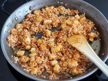 arroz mezclado para el arroz del senyoret
