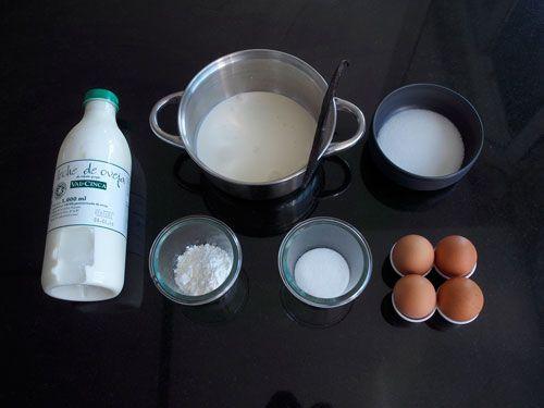 ingredientes para hacer un flan parisino