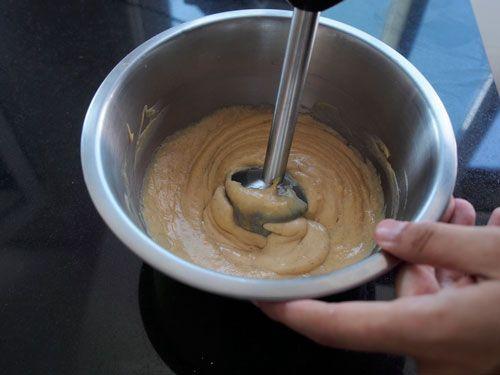 triturar la crema pastelera