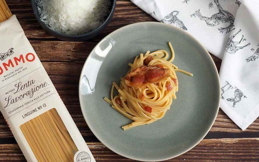 Receta de pasta carbonara autentica italiana